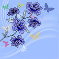 Hand drawn background with a fantasy flower Royalty Free Stock Photography