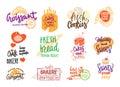 Hand Drawn Bakery Logotypes Set