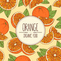 Hand-drawn banner oranges