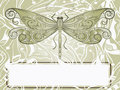 Hand drawn beautiful dragonfly Stock Images
