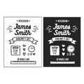 Hand drawn birth announcement. Vector vintage illustration. Royalty Free Stock Photo
