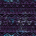 Hand Drawn Black Aztec Tribal Seamless Background Royalty Free Stock Photo
