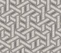 Hand drawn black and white ink striped seamless pattern. Vector grunge lattice texture. Monochrome brush strokes line