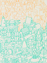 Hand drawn buildings/houses Royalty Free Stock Photo