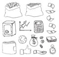 Hand drawn business icons this is file of eps format Stock Photography