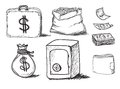 Hand drawn business icons this is file of eps format Stock Images