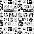 Hand drawn business objects background and texture Royalty Free Stock Image