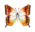 Hand drawn butterfly on white background drawing with colored pencils Stock Photo