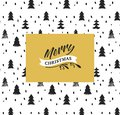 Christmas Background with Gold and Black Fir Trees