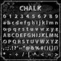 Hand drawn chalk font
