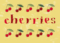 Hand drawn cherries text and illustrations eps vector file hi res jpeg included Stock Photo