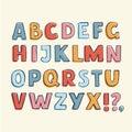Hand Drawn Childish Alphabet