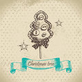 Hand drawn Christmas design Stock Image