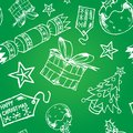 Hand Drawn Christmas Tile Royalty Free Stock Photos