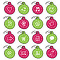 Hand drawn circle tag icons, set 1 Stock Images