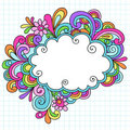 Hand-Drawn Cloud Notebook Doodle Frame Royalty Free Stock Photography