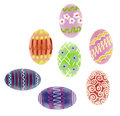 Hand drawn colorful Easter eggs