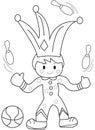 Hand drawn coloring page of a juggler Royalty Free Stock Photo