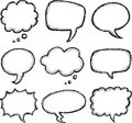 Hand drawn comic speech bubble Royalty Free Stock Photo