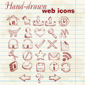 Hand drawn computer web icons Royalty Free Stock Photo