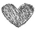 Hand drawn, crayon heart shape Royalty Free Stock Photo