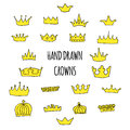 Hand drawn crowns set