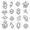 Hand Drawn Crystals Graphic Se...