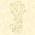 Hand Drawn Cute Cup With Camom...