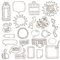 Hand drawn design elements Stock Photography