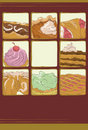 Hand drawn dessert collection Royalty Free Stock Images
