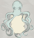 Hand drawn detailed octopus illustration Royalty Free Stock Images