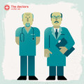 Hand drawn doctors vector illustration eps contains transparencies Stock Photography