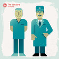 Hand drawn doctors vector illustration eps contains transparencies Royalty Free Stock Image