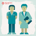 Hand drawn doctors vector illustration eps contains transparencies Royalty Free Stock Images