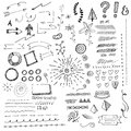 Hand Drawn Doodads, Sketches And Elements Royalty Free Stock Photo