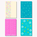 Hand drawn doodle elements seamless patterns set.