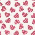 Hand drawn doodle seamless pattern of hearts this is file eps format Stock Images