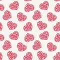 Hand drawn doodle seamless pattern of hearts this is file eps format Stock Photo