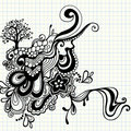 Hand-Drawn Doodle Swirls Vector Royalty Free Stock Photos