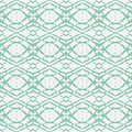 Hand drawn emerald green ethnic ornament Royalty Free Stock Photos