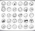 Hand drawn emoticons Royalty Free Stock Photos