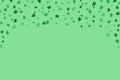 Hand drawn falling green flowers pattern