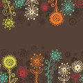 Horizontal floral seamless border Royalty Free Stock Photo