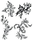 Hand drawn floral background Stock Photos