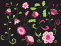 Hand drawn floral illustration Stock Photography