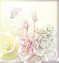 Hand drawn flower beauty Royalty Free Stock Photos