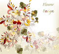 Hand drawn flower design Stock Photos