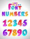Hand drawn  font Stock Photo