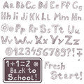 Hand drawn font original as vector image Royalty Free Stock Photo