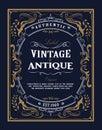 Hand drawn frame Western vintage label Antique banner flourishes